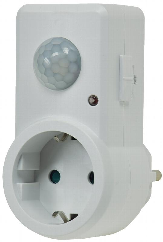 zwischenstecker steckdose mit bewegungsmelder 120 max 1200 watt 21055 ebay. Black Bedroom Furniture Sets. Home Design Ideas